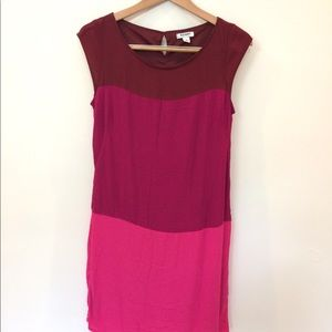 Old Navy pink ombré color lock dress medium